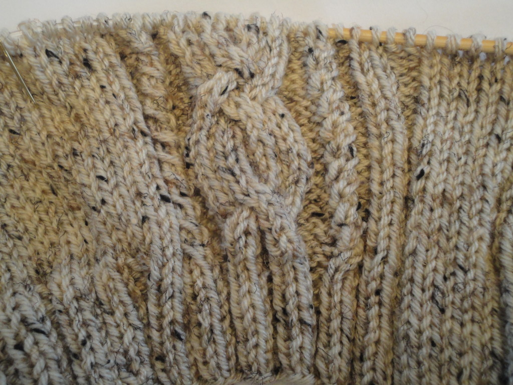 Knit cable detail.