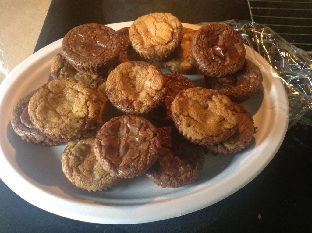 Baked cookie/brownies.