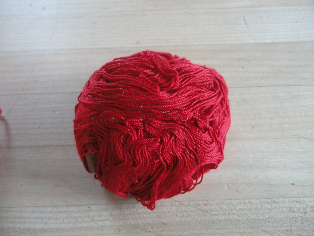 Laundered ball of crochet thread